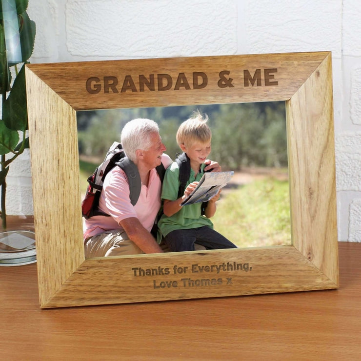 Personalised 7x5 Grandad & Me Photo Frame-Photo Frame-Give Personalised Gifts