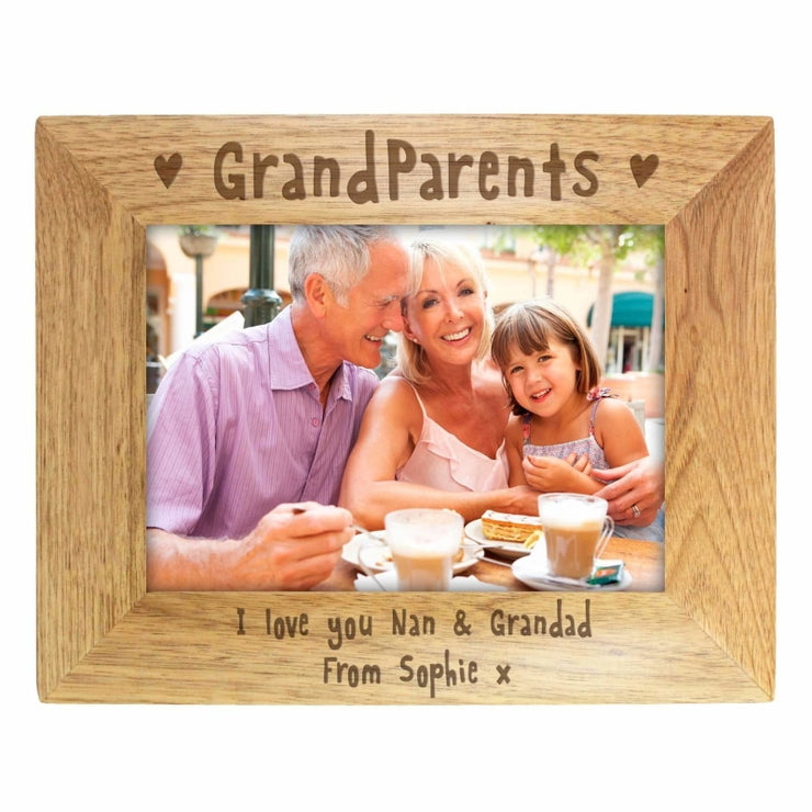 Personalised 7x5 Grandparents Wooden Photo Frame-Photo Frame-Give Personalised Gifts