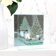 Personalised A Winter's Night Mirrored Glass Tea Light Holder-Glassware-Give Personalised Gifts