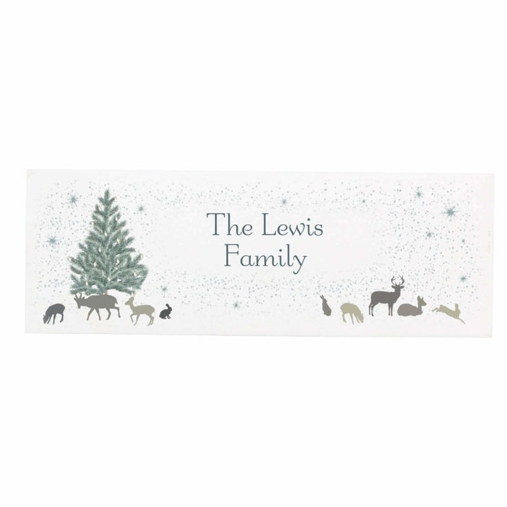 Personalised A Winters Night Wooden Block Sign-Signs-Give Personalised Gifts