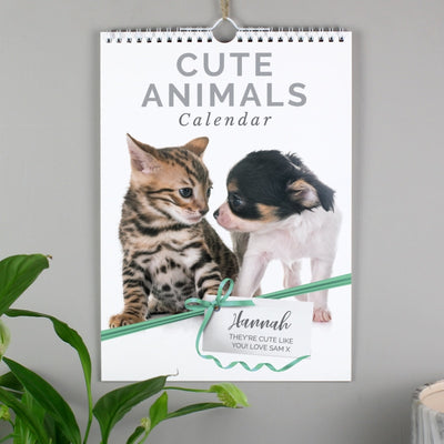 Personalised A4 Cute Animals Calendar-Calendar-Give Personalised Gifts