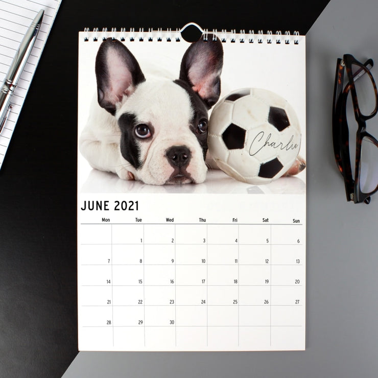Personalised A4 Dog Barking Mad Calendar-Calendar-Give Personalised Gifts