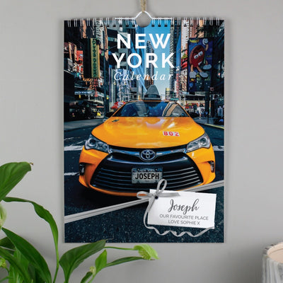 Personalised A4 New York Calendar-Calendar-Give Personalised Gifts