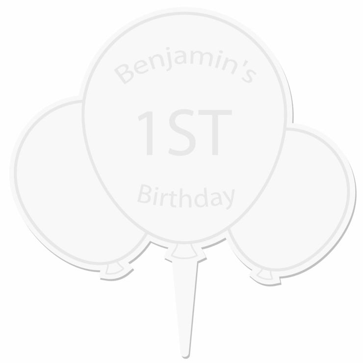 Personalised Acrylic Balloon Cake Topper-Cake Topper-Give Personalised Gifts