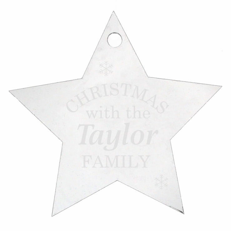 Personalised Acrylic Christmas Star Decoration-Hanging Decoration-Give Personalised Gifts