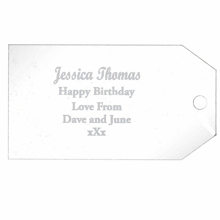 Personalised Acrylic Gift Tag Decoration-Hanging Decoration-Give Personalised Gifts