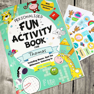 Personalised Activity Book with Stickers-Activity Books-Give Personalised Gifts
