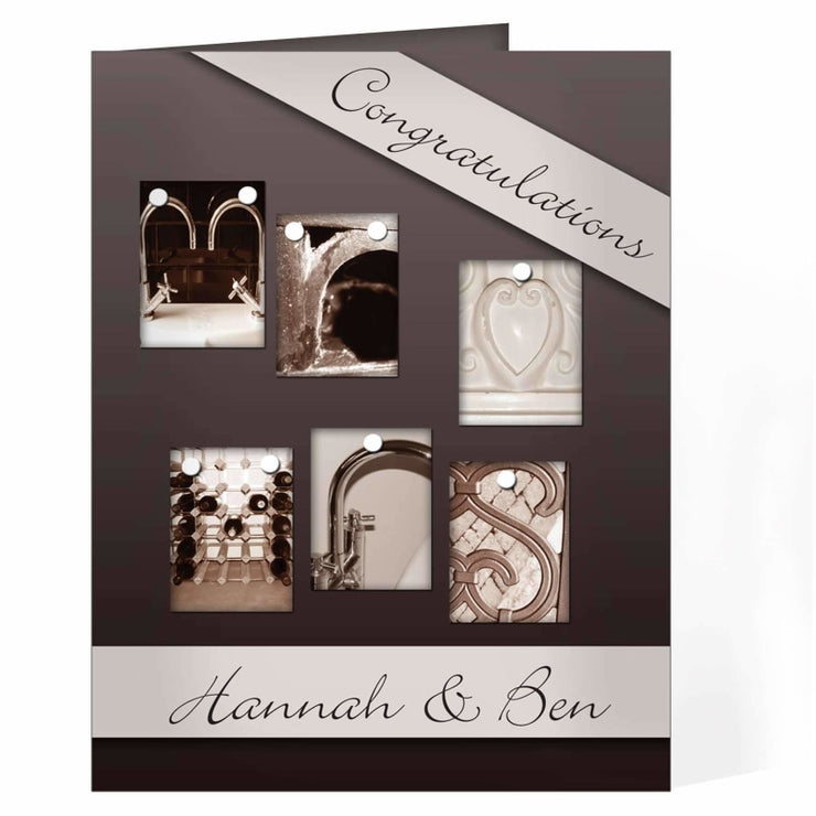 Personalised Affection Art Mr & Mrs Card-Personalised Cards-Give Personalised Gifts
