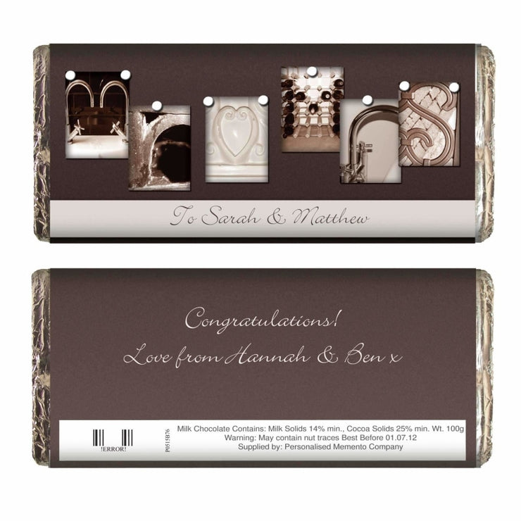 Personalised Affection Art Mr & Mrs Milk Chocolate Bar-Chocolate Bar-Give Personalised Gifts