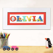 Personalised Animal Alphabet Name Frame-Framed Print-Give Personalised Gifts