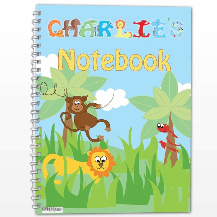 Personalised Animals - A5 Notebook-Notebook-Give Personalised Gifts