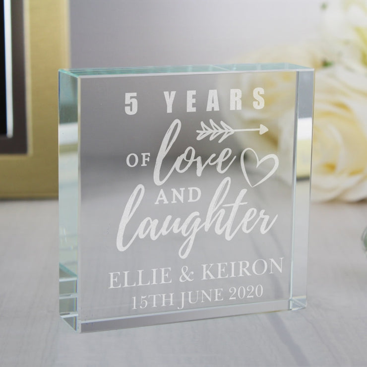 Personalised Anniversary Large Crystal Token-Crystal Token-Give Personalised Gifts
