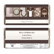 Personalised Any Message Affection Art Milk Chocolate Bar-Chocolate Bar-Give Personalised Gifts