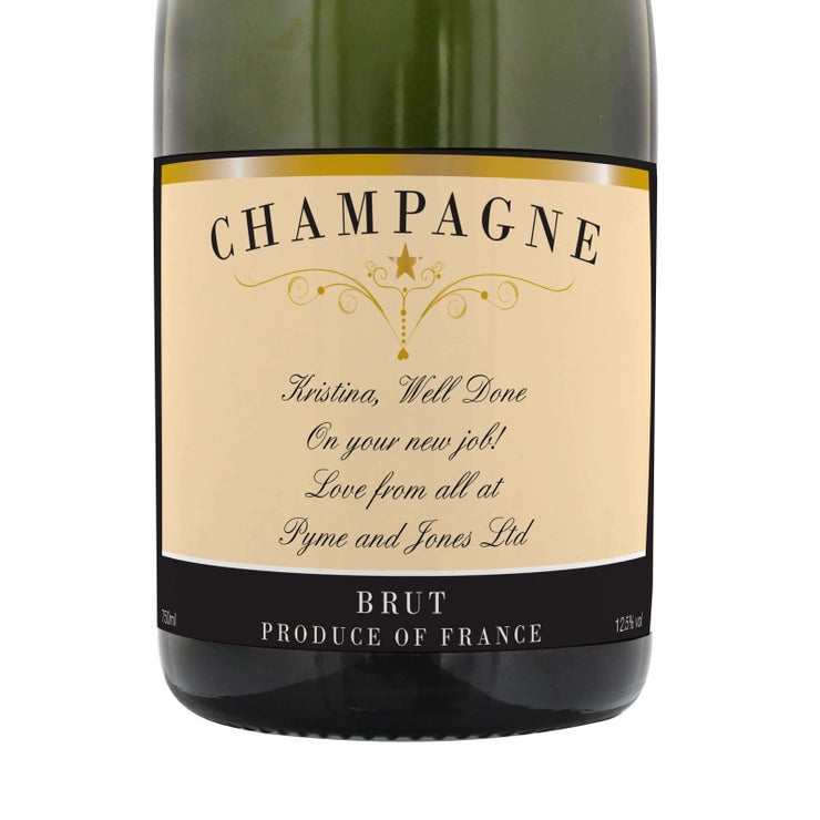 Personalised Any Message Classic Label Champagne-Beverage & Accessories-Give Personalised Gifts