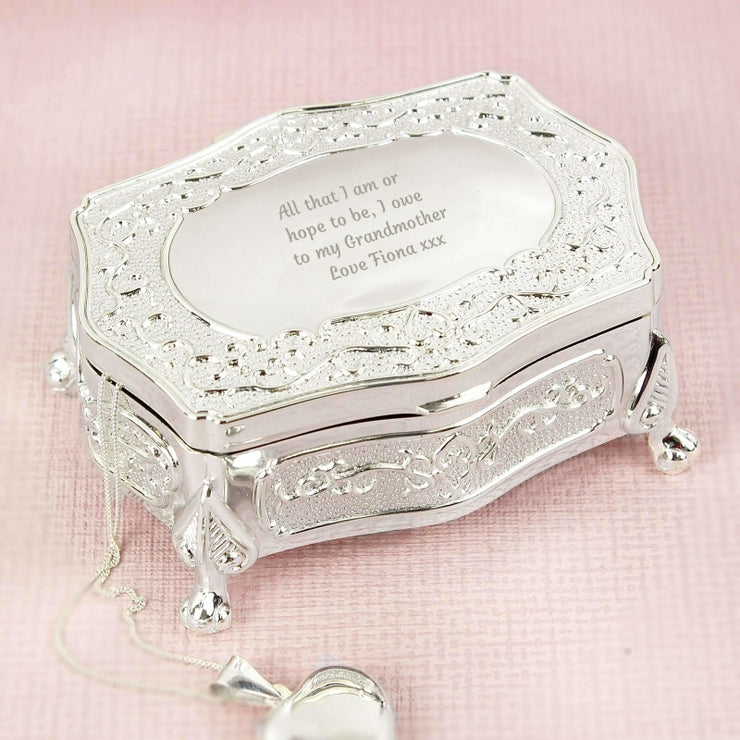 Personalised Any Message Small Antique Trinket Box-Trinket Box-Give Personalised Gifts