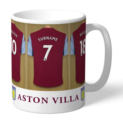 Personalised Aston Villa FC Dressing Room Mug-Mugs-Give Personalised Gifts