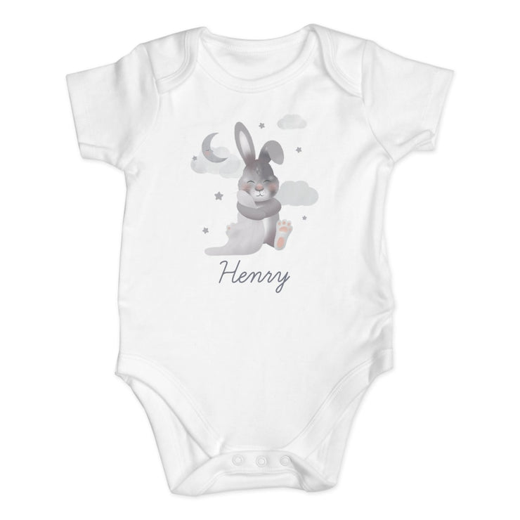 Personalised Baby Bunny 0-3 Months Baby Vest-Baby Clothing-Give Personalised Gifts