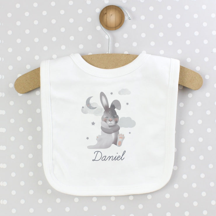 Personalised Baby Bunny Bib-Bibs-Give Personalised Gifts