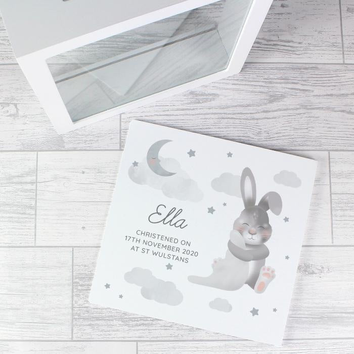 Personalised Baby Bunny Memory Keepsake Box-Keepsake Box-Give Personalised Gifts