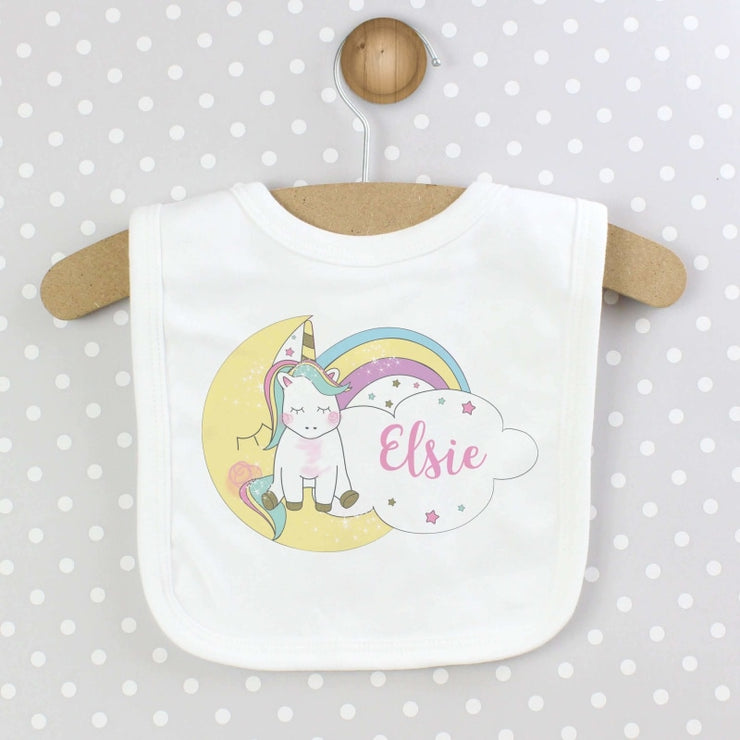 Personalised Baby Unicorn Bib-Baby Accessories-Give Personalised Gifts