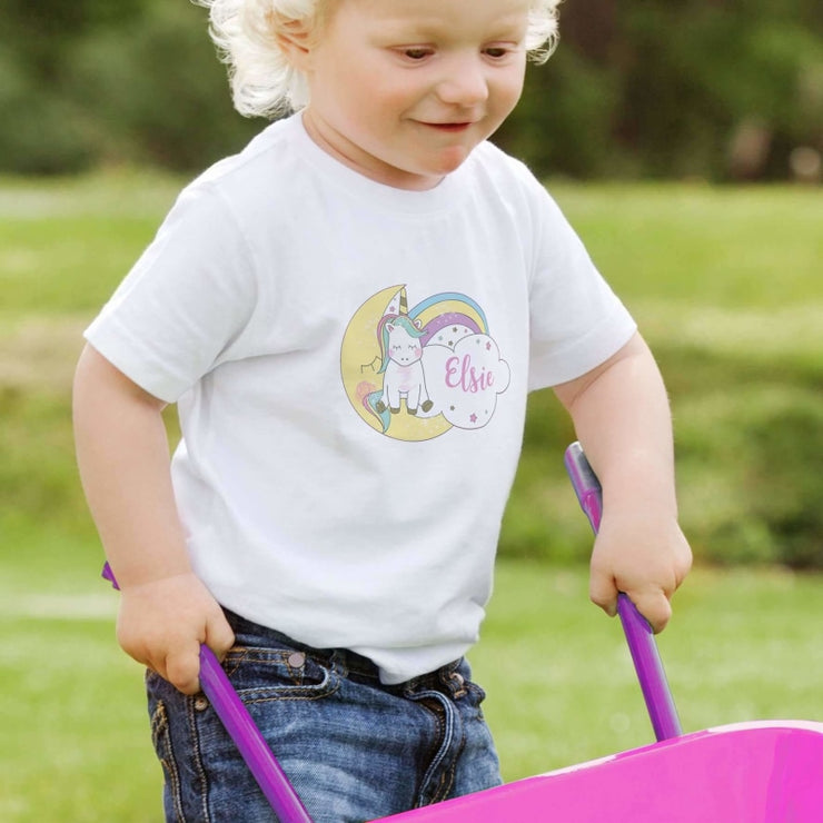 Personalised Baby Unicorn T shirt 2-3 Years-Baby Accessories-Give Personalised Gifts