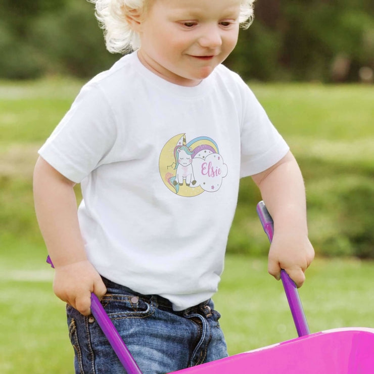 Personalised Baby Unicorn T shirt 3-4 Years-Baby Accessories-Give Personalised Gifts