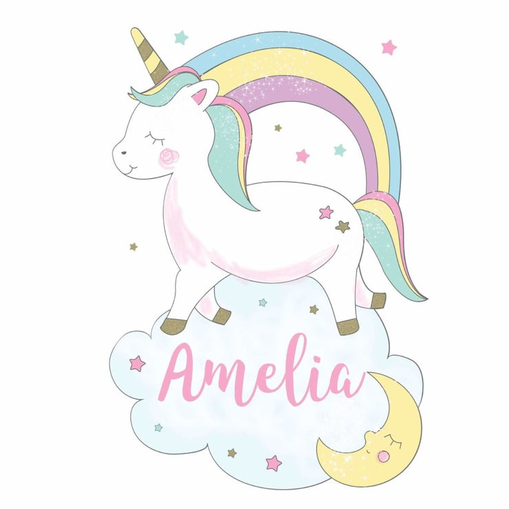 Personalised Baby Unicorn Wall Art-Wall Art-Give Personalised Gifts