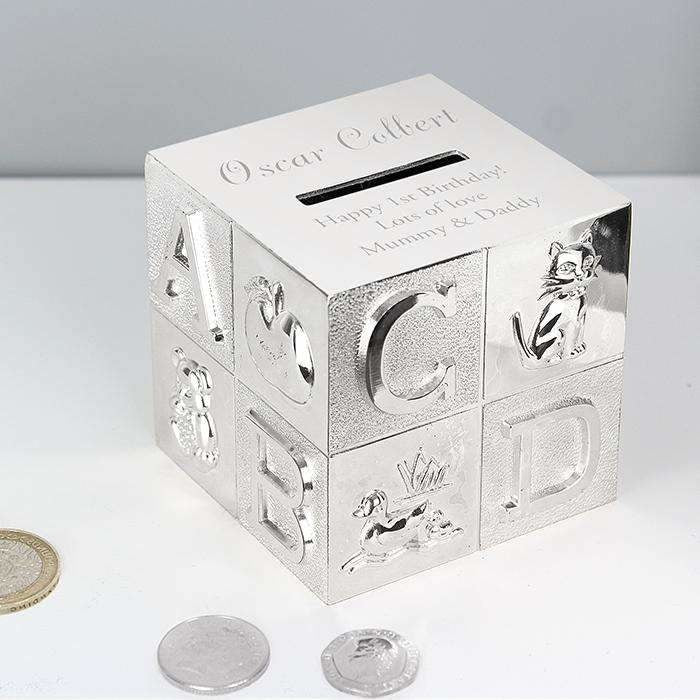 Personalised Baby's ABC Money Box-Money Box-Give Personalised Gifts