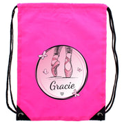 Personalised Ballet Pink Kit Bag-Swim and Kit Bags-Give Personalised Gifts