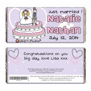 Personalised Bang on the Door Just Married Milk Chocolate Bar-Chocolate Bar-Give Personalised Gifts