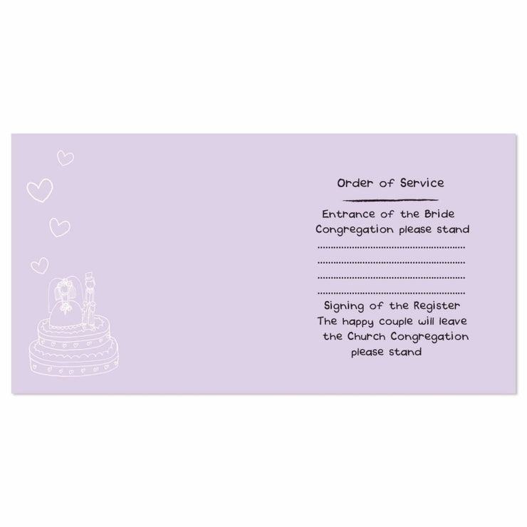 Personalised Bang on the Door Orders of Service Cards 20 Pack-Personalised Cards-Give Personalised Gifts