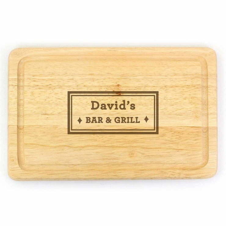 Personalised Bar & Grill Large Chopping Board-Kitchen Accessories-Give Personalised Gifts