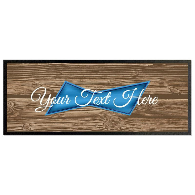 Personalised Bar Runner - Blue Label Wood-Bar Runner-Give Personalised Gifts