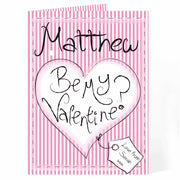 Personalised Be My Valentine Card-Personalised Cards-Give Personalised Gifts