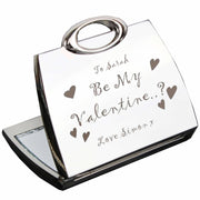 Personalised Be My Valentine Handbag Compact Mirror-Compact Mirror-Give Personalised Gifts