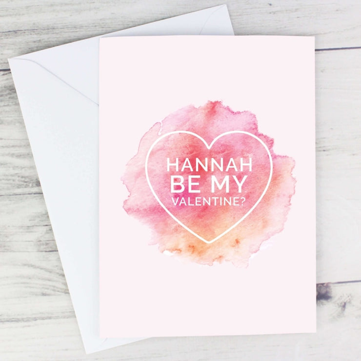 Personalised Be My Valentine Heart Card-Personalised Cards-Give Personalised Gifts