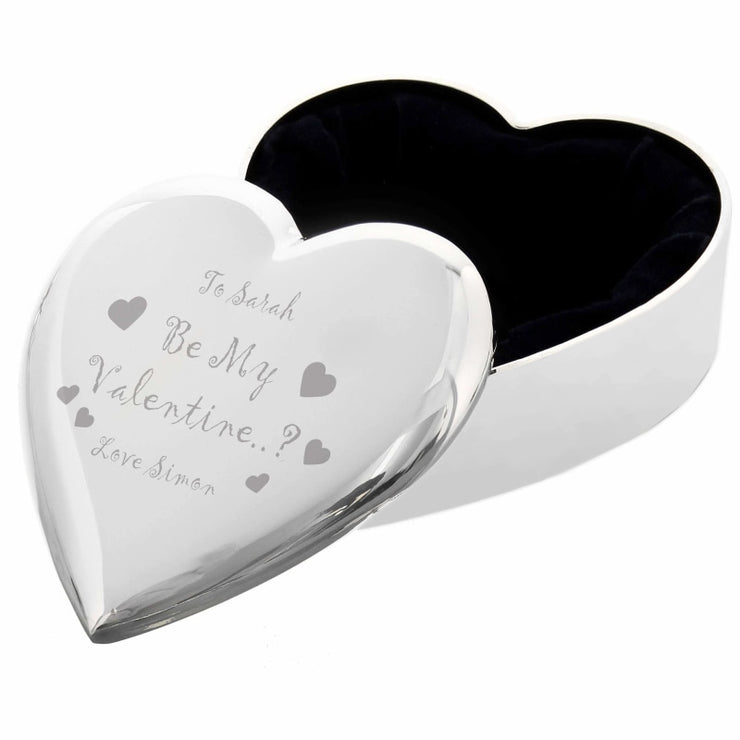 Personalised Be My Valentine Heart Trinket Box-Trinket Box-Give Personalised Gifts