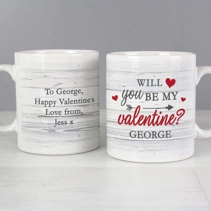 Personalised Be My Valentine Mug-Mugs-Give Personalised Gifts