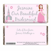 Personalised Beautiful Bridesmaid Milk Chocolate Bar-Chocolate Bar-Give Personalised Gifts