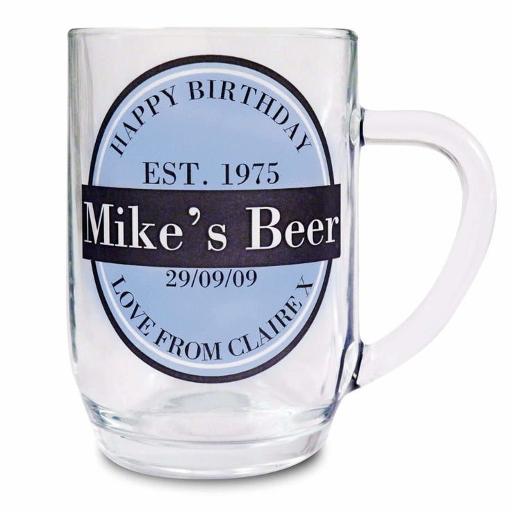 Personalised Beer Label Tankard-Tankard-Give Personalised Gifts