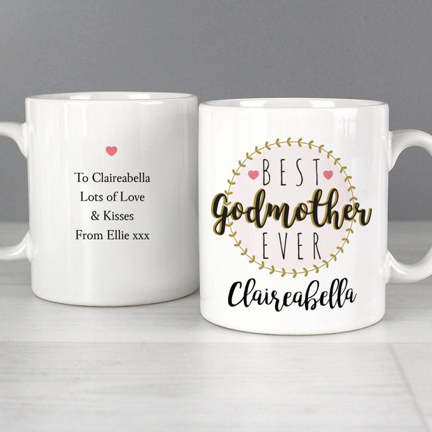 Personalised 'Best Godmother' Mug-Mugs-Give Personalised Gifts