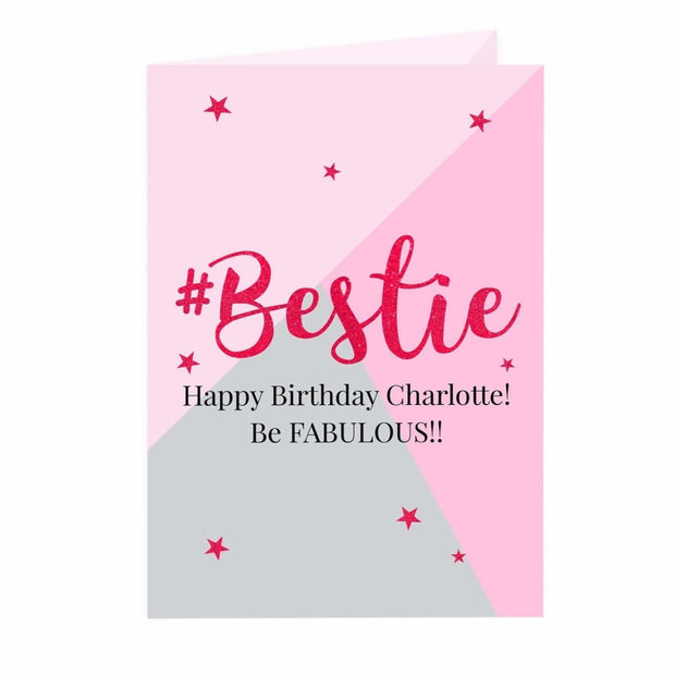Personalised #Bestie Card-Personalised Cards-Give Personalised Gifts