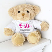 Personalised #Bestie Teddy-Teddies-Give Personalised Gifts