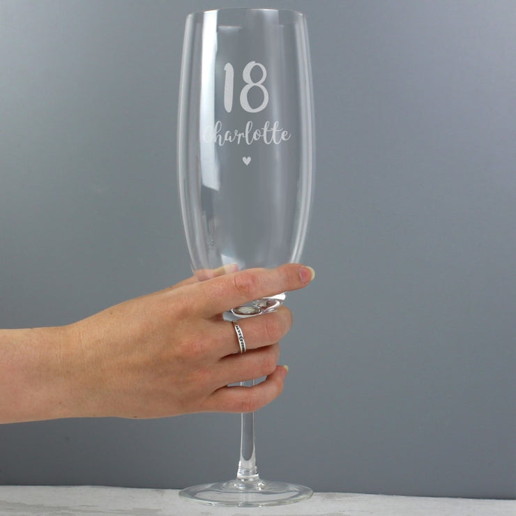 Personalised Big Age Bottle Of Prosecco Glass-Glassware-Give Personalised Gifts