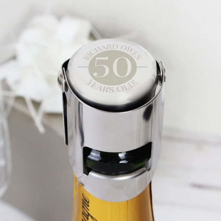 Personalised Big Number Bottle Stopper-Bottle Stopper-Give Personalised Gifts