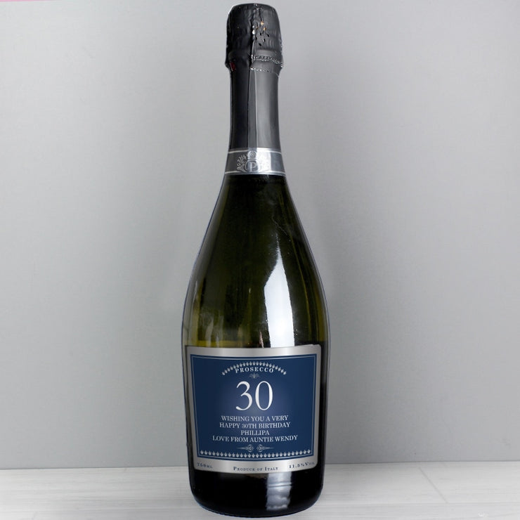 Personalised Birthday And Anniversary Bottle of Prosecco-Prosecco-Give Personalised Gifts