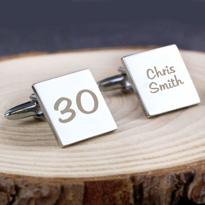 Personalised Birthday Big Age Cufflinks-Cufflinks-Give Personalised Gifts