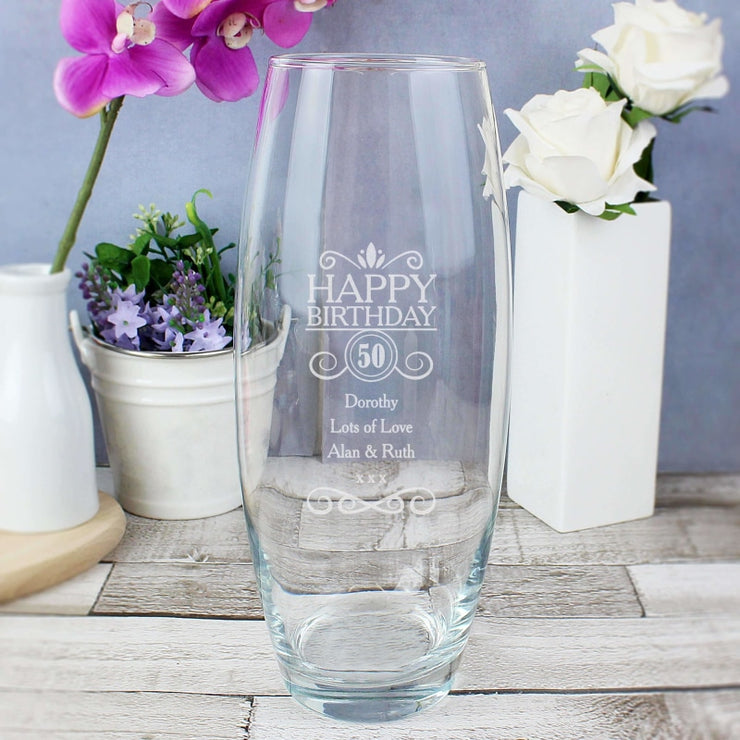 Personalised Birthday Bullet Vase-Vase-Give Personalised Gifts