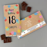 Personalised Birthday Colour Confetti Milk Chocolate Bar-Chocolate Bar-Give Personalised Gifts
