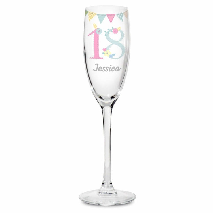 Personalised Birthday Craft Glass Flute-Flute-Give Personalised Gifts